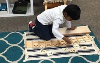 preschooler exploring math